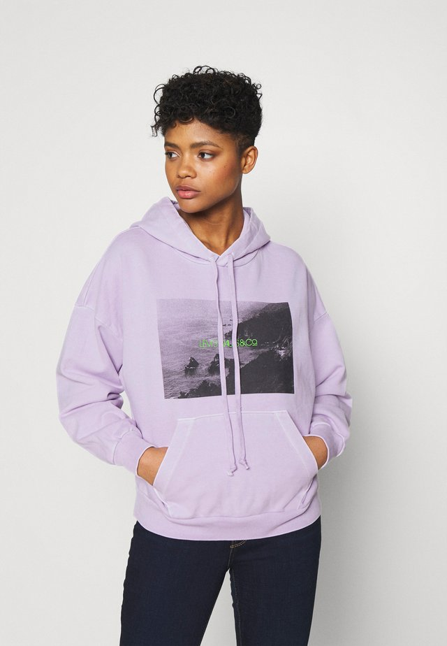 GRAPHIC HOODIE - Sweatshirt - purple