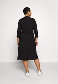 Dorothy Perkins Curve - GRANDAD COLLAR DRESS - Jersey dress - black - 3
