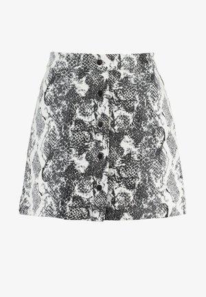 ONLDARLINE SNAKE SKIRT - A-line skirt - pumice stone