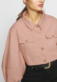 Missguided - BALLOON SLEEVE SHACKET - Denim jacket - blush - 5