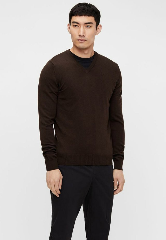 LYMANN - Strikpullover /Striktrøjer - dark brown
