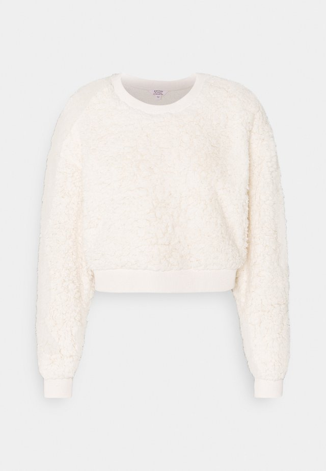 CROPPED TEDDY - Felpa - cream