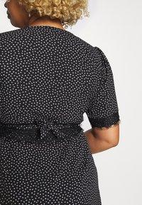 Fashion Union Plus - TRIM WRAP DRESS - Day dress - black/white - 5