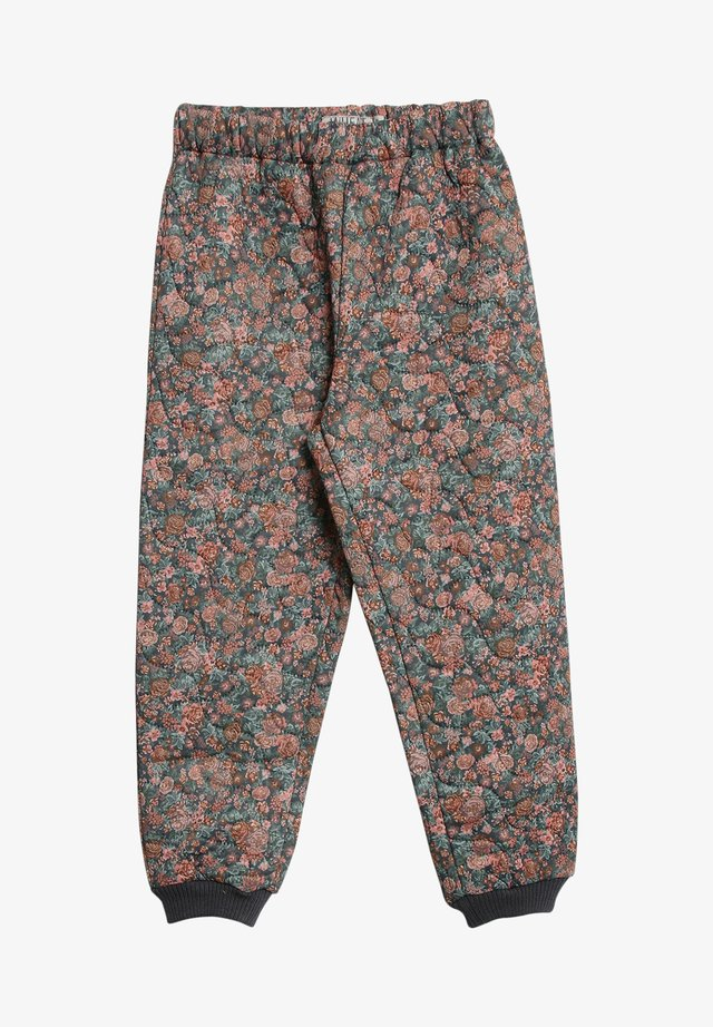ALEX - Tracksuit bottoms - dusty rouge flowers