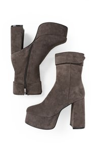 MIM Shoes - MICKEY - High heeled ankle boots - greyish brown - 1