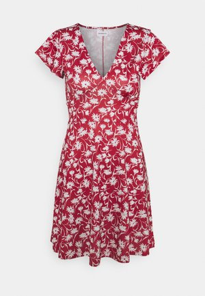 Jersey dress - red/white