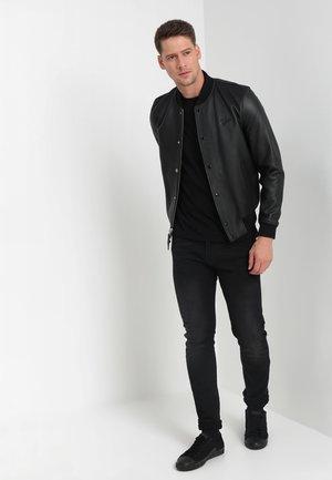 C-NECK 2 PACK - T-shirt - bas - black