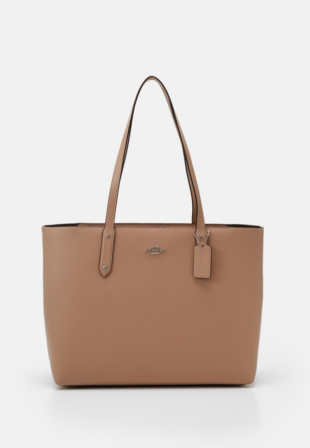 CENTRAL TOTE WITH ZIP - Shopping bag - taupe