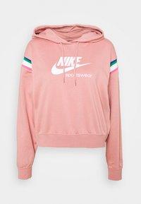 Nike Sportswear - HOODIE - Hoodie - rust pink/white - 4