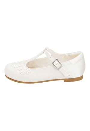 WHITE FLOWER T-BAR SHOES (YOUNGER) - Zapatos de bebé - white