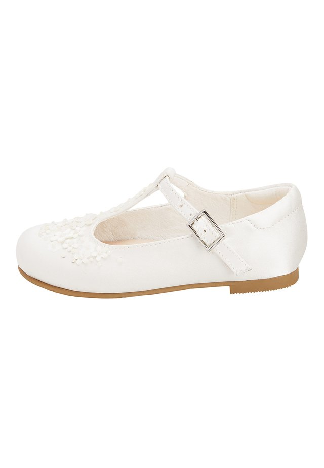 WHITE FLOWER T-BAR SHOES (YOUNGER) - Chaussures premiers pas - white
