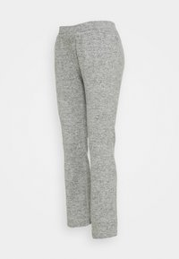 Pieces Maternity - PCMPAM FLARED PANT - Trousers - light grey melange - 4