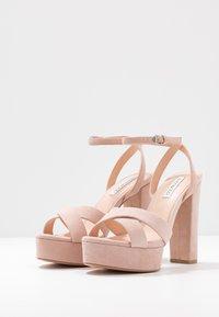Even&Odd Wide Fit - LEATHER - Sandaler med høye hæler - nude - 4