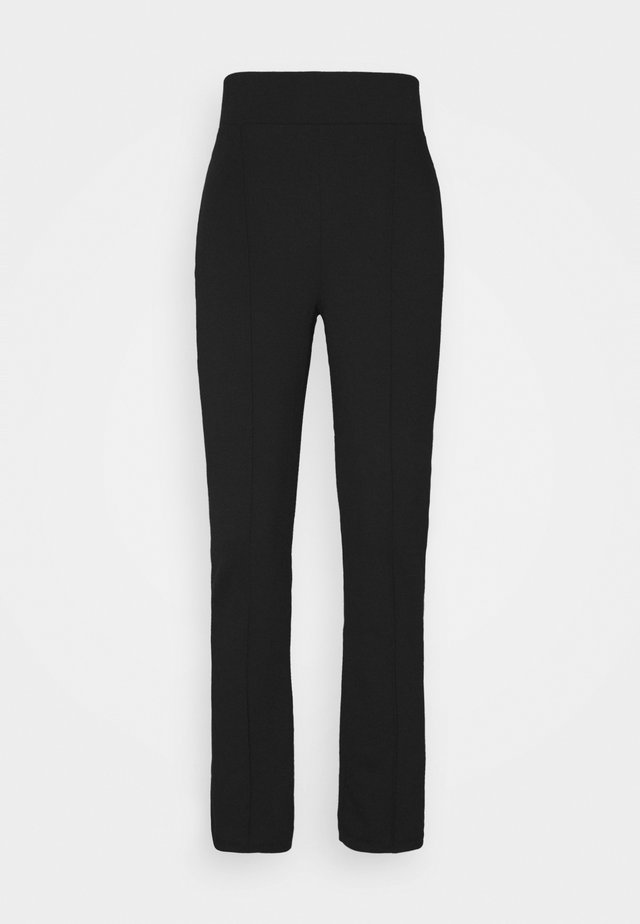 Punto Trouser with Seam Detail - Leggings - black