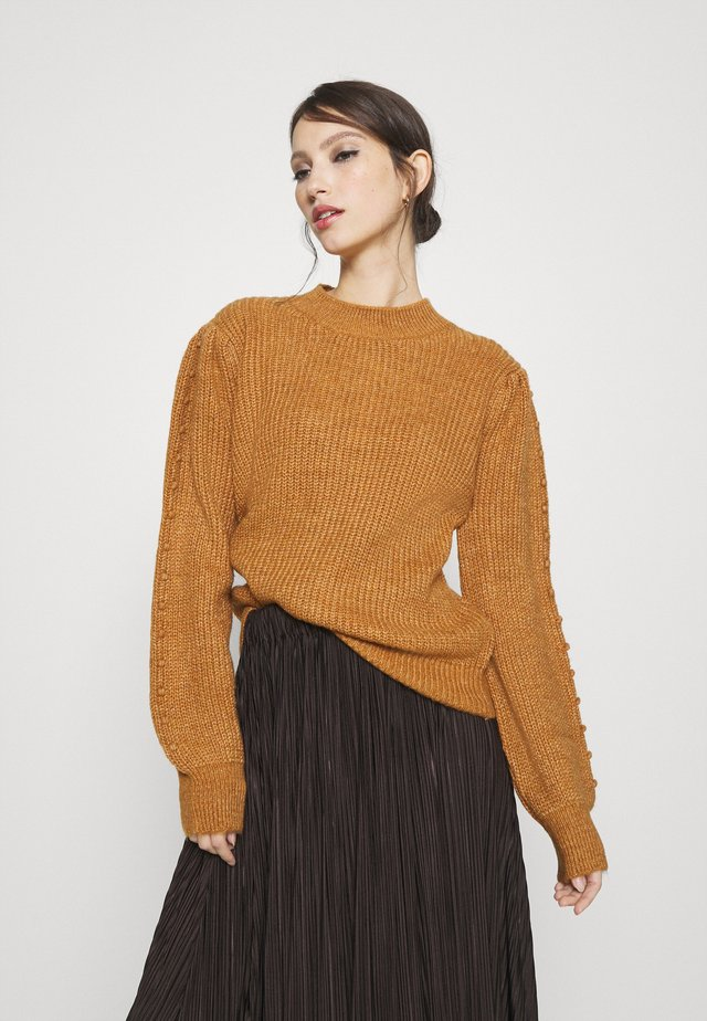 NMFREJA O NECK - Stickad tröja - brown sugar