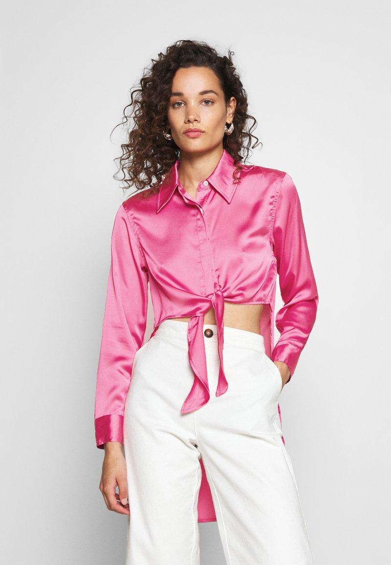 Who What Wear - KNOT  - Button-down blouse - sherbet