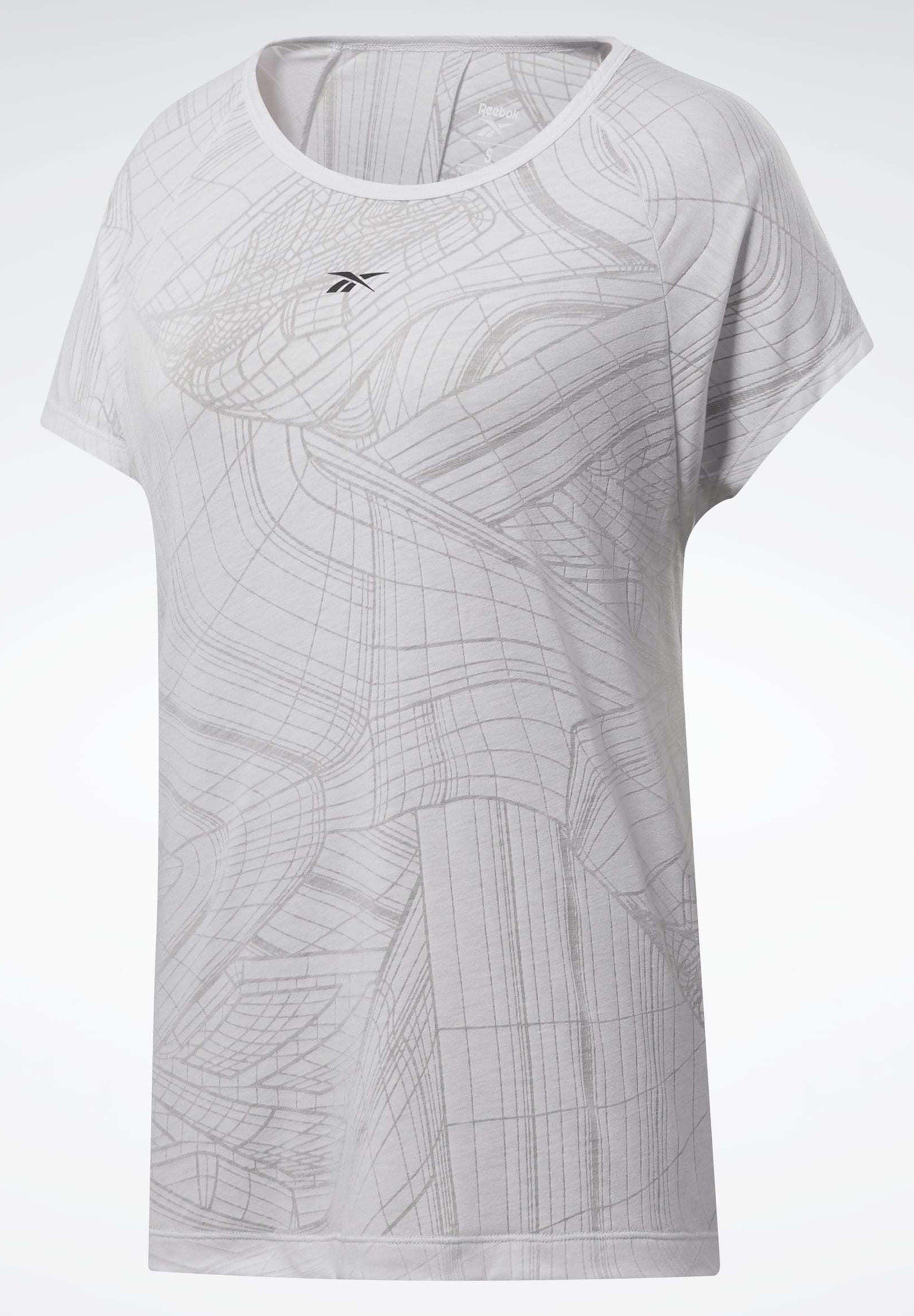Reebok BURNOUT T-SHIRT - Print T-shirt - white CudS6