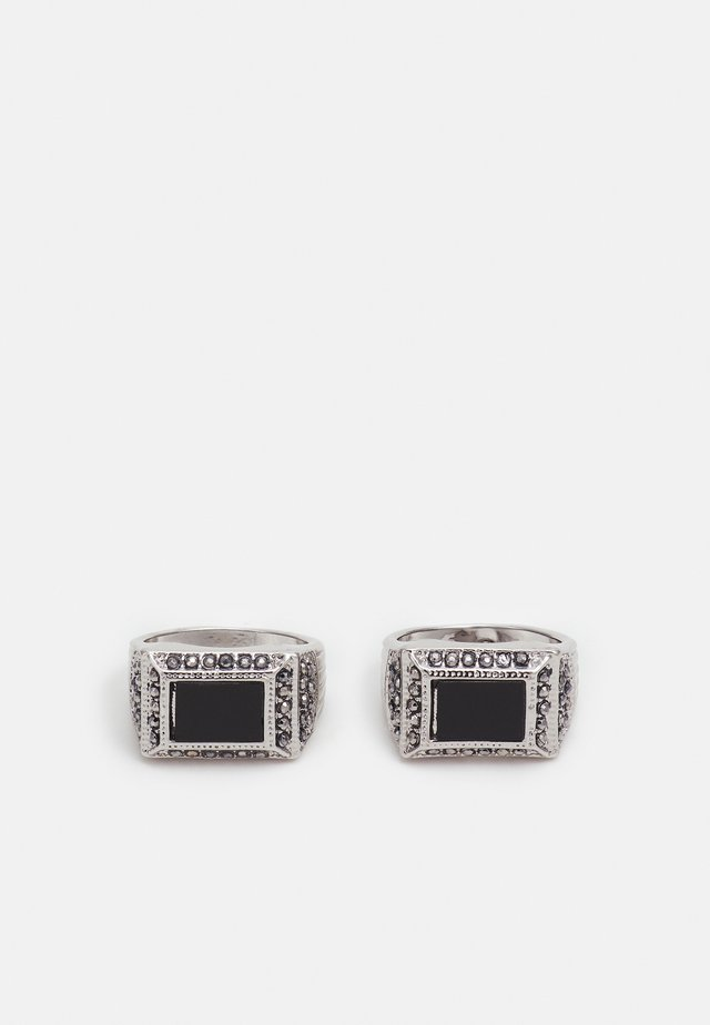 RECTANGLE SIGNET 2 PACK - Ring - black
