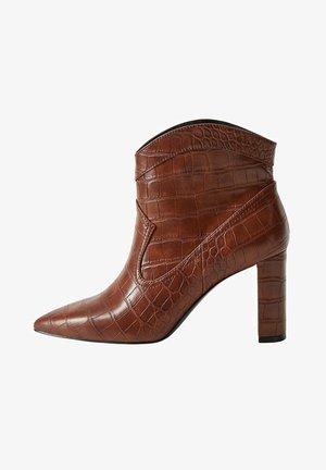 Ankle boots - kognac