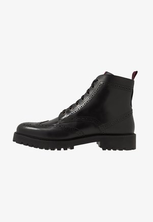 SEAN BROGUE BOOT - Snörstövletter - black