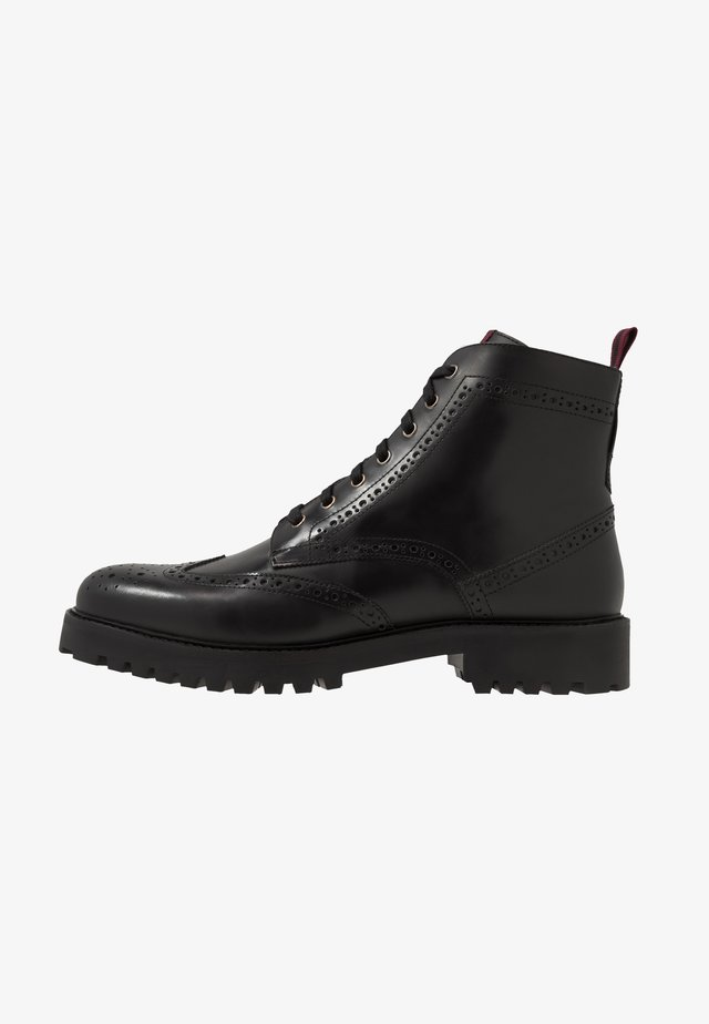 SEAN BROGUE BOOT - Bottines à lacets - black