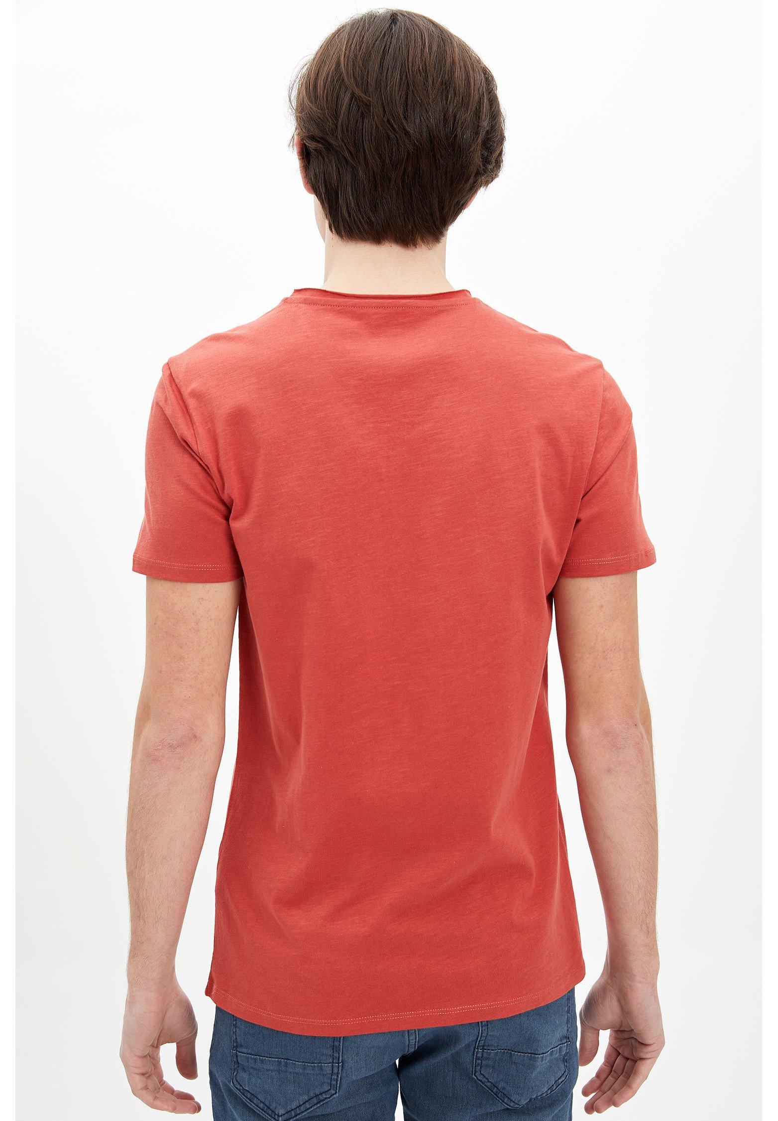 DeFacto Basic T-shirt - bordeaux piz2d