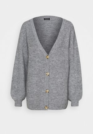 Strikjakke /Cardigans - mottled grey