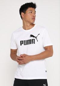 Puma - LOGO TEE - T-shirt con stampa - white - 0