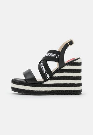 Sandály na platformě - nero