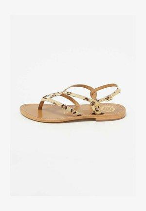 T-bar sandals - leopard print