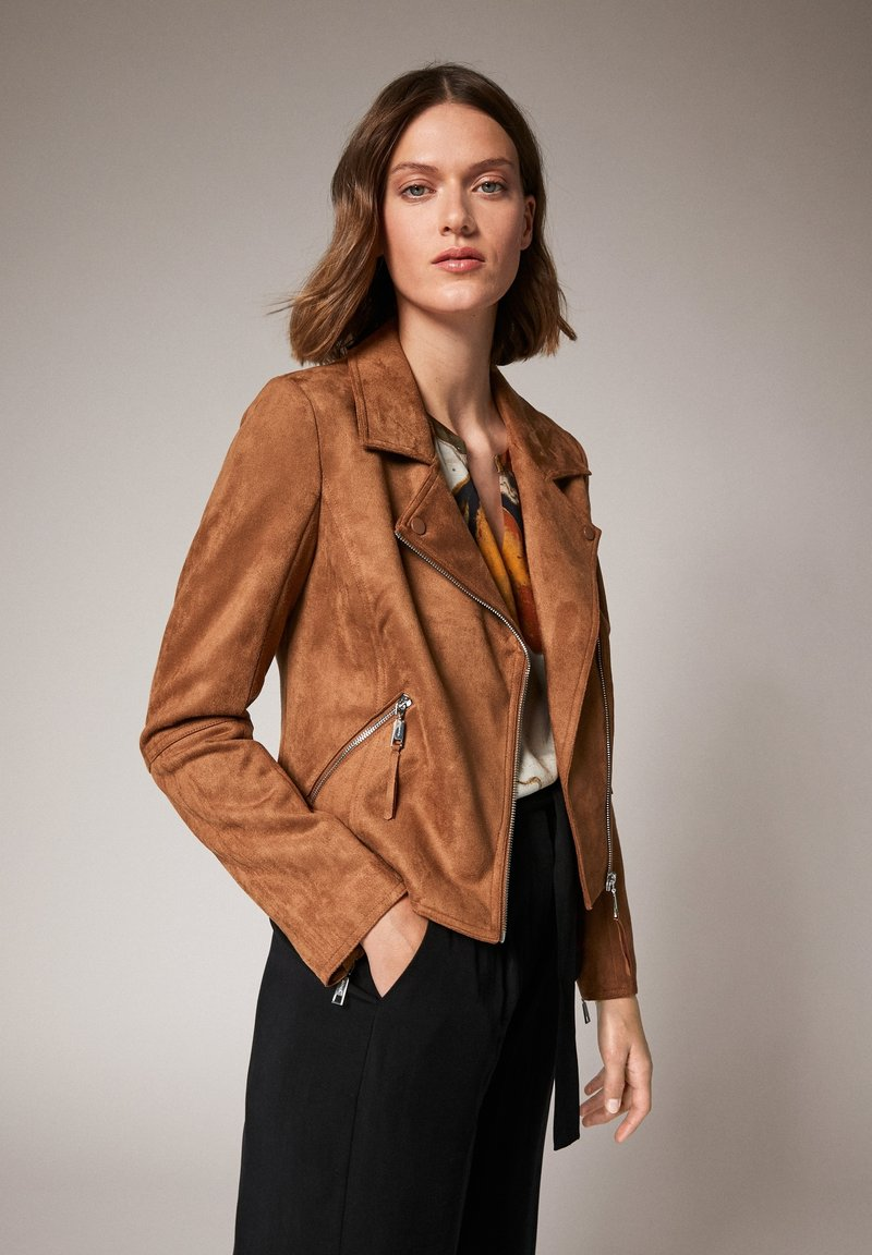 comma - Faux leather jacket - brown