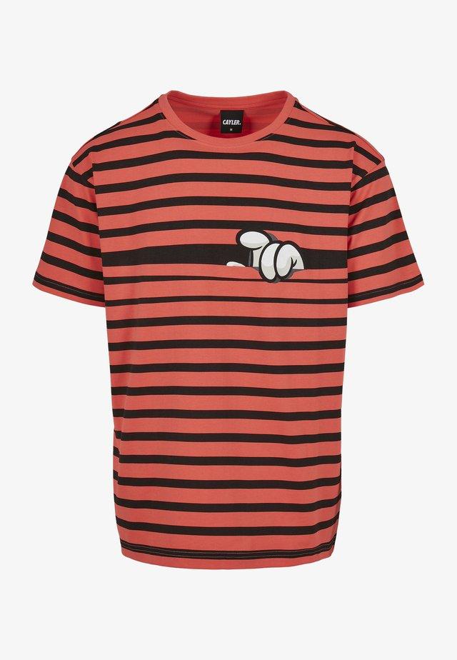 T-shirt imprimé - coral/mc