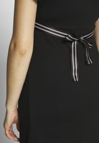 Balloon - NURSING WRAP DRESS - Žerzejové šaty - black - 6