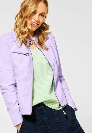 Faux leather jacket - lila