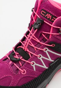 CMP - KIDS RIGEL MID SHOE WP UNISEX - Trekingové boty - berry/pink fluo - 5