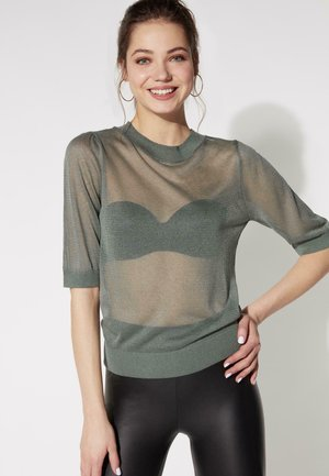 T-shirt con stampa - light military