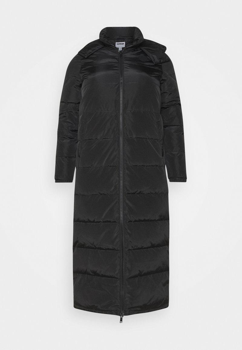 Noisy May Tall - NMMAI LONG JACKET - Winter coat - black
