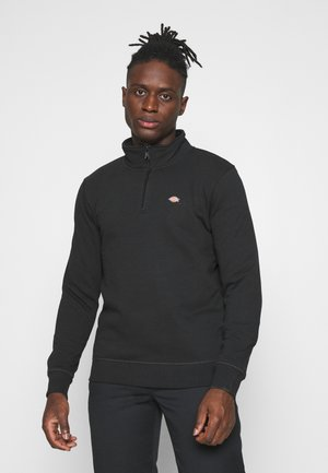 OAKPORT QUARTER ZIP - Felpa - black