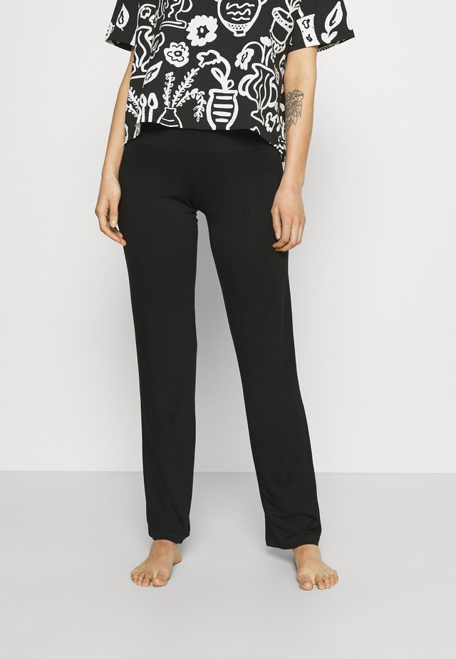 AMELIA PANTALON - Bas de pyjama - noir