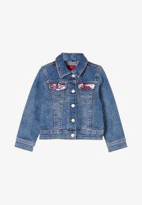 s.Oliver - MIT PAILLETTEN-DETAILS - Denim jacket - blue - 0