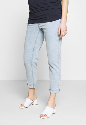 MATERNITY UNDERBUMP  - Relaxed fit jeans - light wash denim