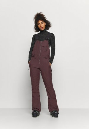 SWIFT BIB OVERALL - Snow pants - black red