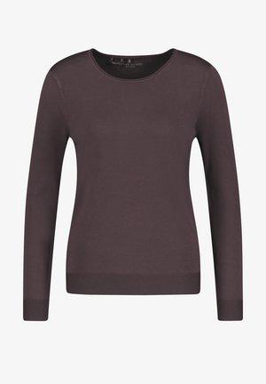 LANGARM RUNDHALS - Sweatshirt - dark chestnut