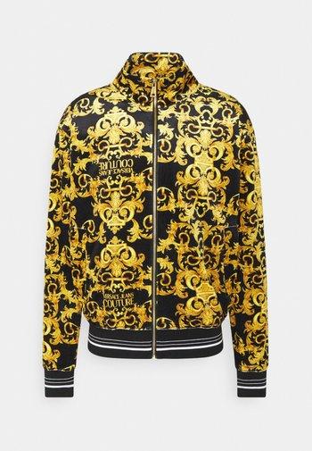 TECNO PRINT LOGO BAROQU - Zip-up hoodie - black