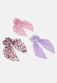 Monki - SAMARA SCRUNCHIES 3 PACK - Hair Styling Accessory - pink/lilac - 0