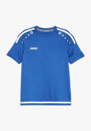TRIKOT STRIKER - T-shirt z nadrukiem - royal/weiß