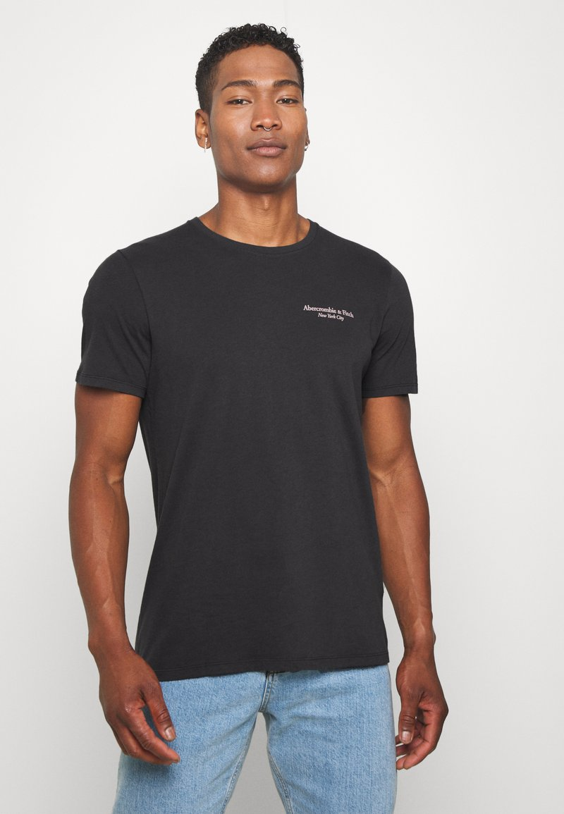 Abercrombie & Fitch - IMAGERY CITY TEE - Print T-shirt - black