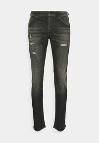 Jack & Jones - JJIGLENN JJFOX - Slim fit jeans - black denim - 0