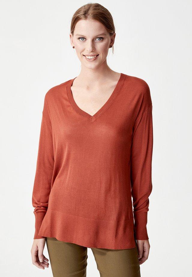ALLISION - Pullover - rust