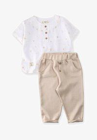 Cigit - SET - Trousers - beige/white - 0